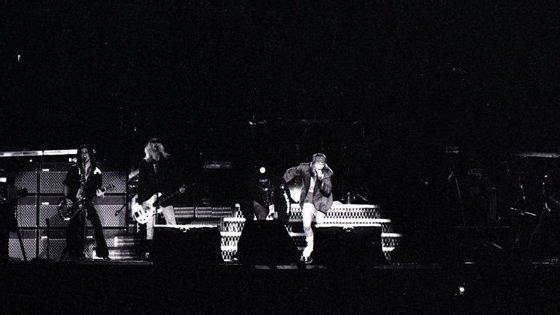 Os Guns N' Roses no Estádio de Alvalade em 1992