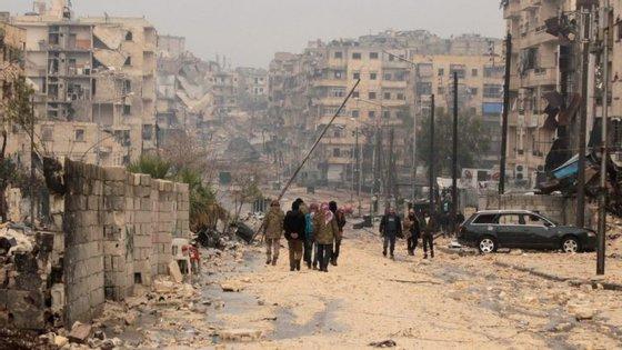 A situação humanitária em Alepo está a chocar os observadores internacionais