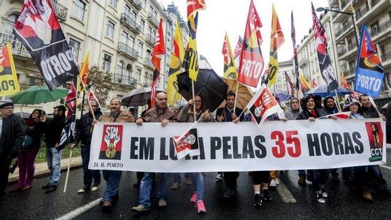 O primeiro ano do governo de Passos Coelho foi o que registou o maior número de greves