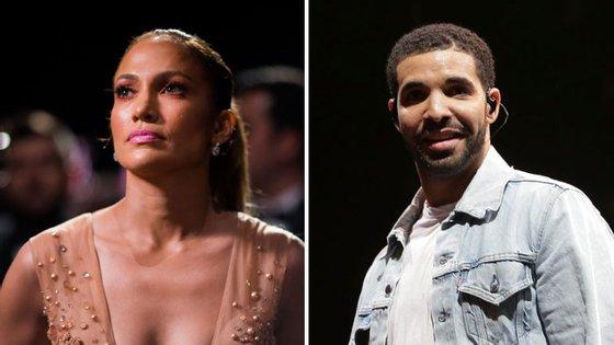 Jennifer Lopez tem 47 anos e Drake 30.