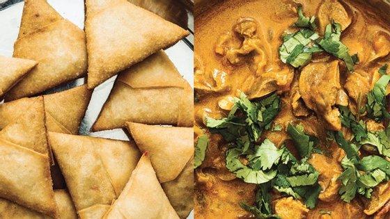 """""""Coentros & Garam Masala"""" reúne cerca de 50 receitas de cozinha indiana-gujarati de autoria de Bina Achoca, recolhidas pela amiga Rita Ávila Cachado."""