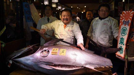 Esta é a sugunda licitação mais alta de um leilão de Ano Novo em Tóquio. O recorde pertence também a um atum rabilho