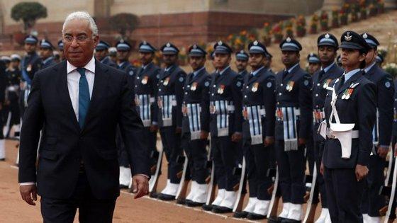 António Costa está a realizar uma visita de seis dias  à Índia