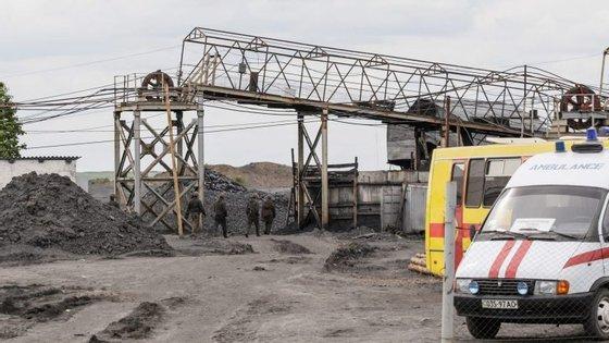 A mina situa-se na aldeia de Glukhiv, a cerca de 50 quilómetros da principal cidade do oeste da Ucrânia, Lviv, perto da fronteira com a Polónia