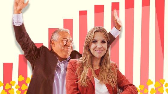 António Costa e Ana Garcia Martins, autora do blogue A Pipoca Mais Doce