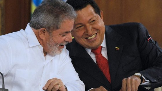 Lula da Silva e Hugo Chávez
