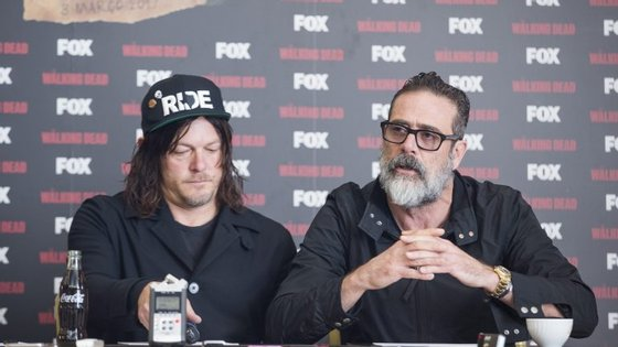 Os atores Norman Reedus (Daryl) e Jeffrey Dean Morgan (Negan)