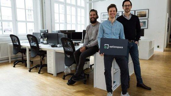 Os três fundadores da Optionspace