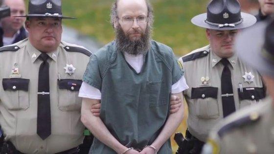 Christopher Knight na altura em que foi julgado