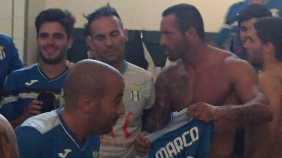 Marco Gonçalves, de 34 anos, foi expulso logo aos dois minutos do encontro do Canelas frente ao Rio Tinto