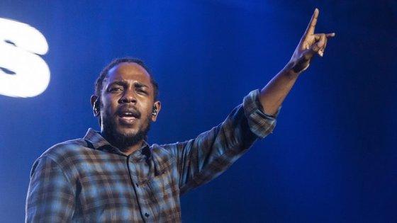 Kendrick Lamar no festival Super Bock Super Rock do ano passado