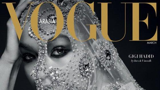 A primeira edição da Vogue da Arábia Saudita saiu em março passado