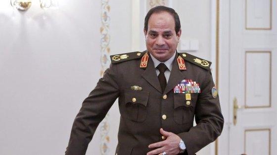 O presidente do Egito, Abdel Fattah al-Sisi, fez um discurso que foi transmitido na televisão