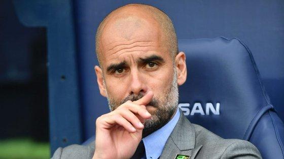 Pep Guardiola é treinador do Manchester City há um ano. Ficou em terceiro lugar na Premier League