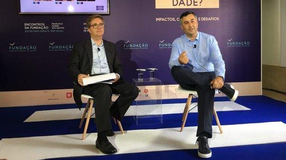 David Lopes (esquerda) e Fernando Alexandre (direita), na apresentação do 7º encontro nacional da FFMS