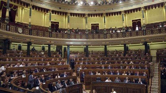 O Partido Popular, o maior no parlamento e base de apoio do Governo, e o Cidadãos (centro) votaram contra e o PSOE (Partido Socialista Operário Espanhol) absteve-se.