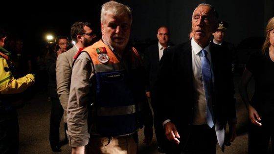 Jorge Gomes é o secretário de Estado com o pelouro da Proteção Civil e protagonizou as primeiras horas no local