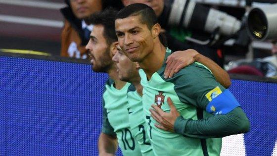 Cristiano Ronaldo marcou o único golo logo aos 8', após cruzamento de Raphäel Guerreiro