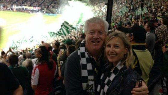 George Glass é adepto da equipa de futebol americano, Portland Timbers.