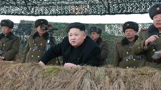 A Coreia tem vindo a fazer vários testes de lançamento de mísseis nos últimos meses