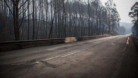 Foi na EN236-1 que 47 pessoas perderam a vida no incêndio de Pedrógão Grande
