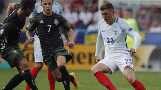 Davie Selke colocou os alemães em vantagem aos 35 minutos
