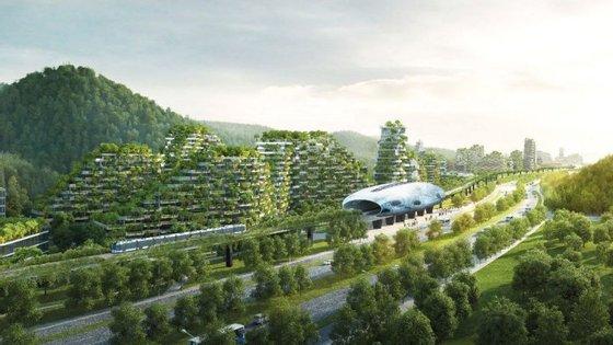 O grupo de Boeri está também a propor uma configuração semelhante para a cidade de Shijiazhuang