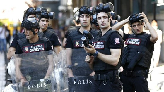 A polícia turca não fez qualquer comentário sobre a situação
