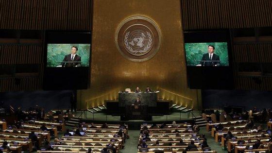 Na votação, 122 países votaram a favor, a Holanda votou contra e Singapura absteve-se