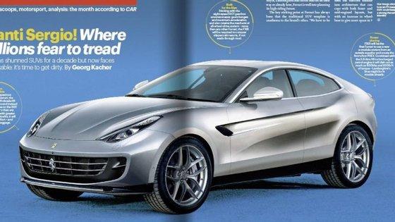 """Segunda a """"Car Magazine"""", este é o F16X, o primeiro crossover em que a Ferrari estará a trabalhar"""