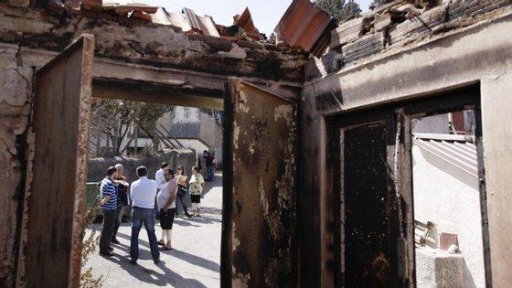 Estão identificadas 205 intervenções em casas de primeira habitação nos sete concelhos afetados pelos incêndios