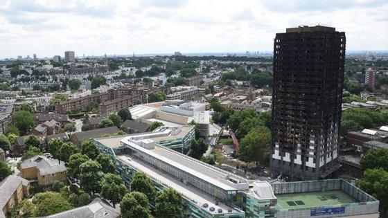 O incêndio que deflagrou em junho na Torre Grenfell, de 24 andares, matou 80 pessoas