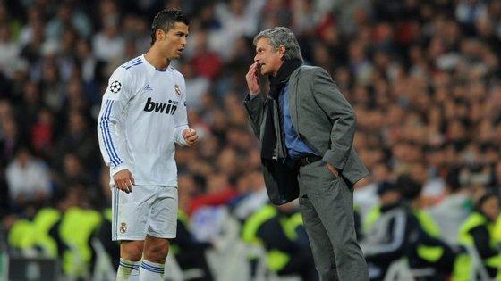 Ronaldo e Mourinho estiveram três anos juntos em Madrid, ganhando um Campeonato, uma Taça e uma Supertaça