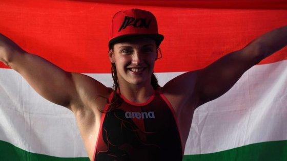 Katinka Hosszu acaba de bater mais um recorde mundial, nos 100 metros estilos, na Taça do Mundo de Berlim