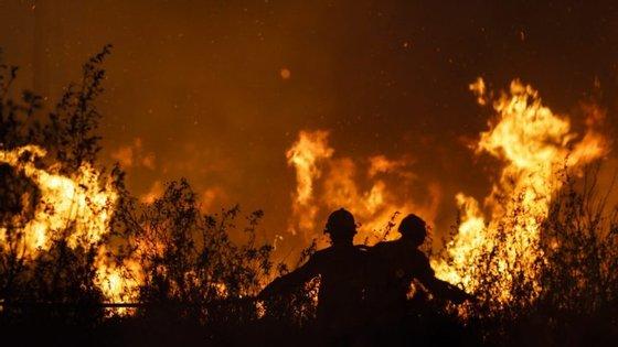 O fogo na Covilhã está a ser combatido por 322 operacionais apoiados por 95 meios terrestres e um meio aéreo