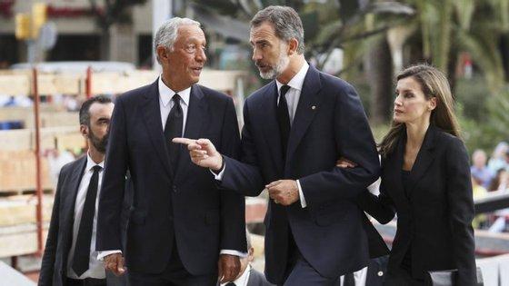 Marcelo acompanhou os reis de Espanha na celebração esta manhã em Barcelona