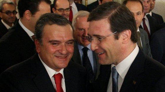 Os ex-governantes Miguel Relvas e Pedro Passos Coelho
