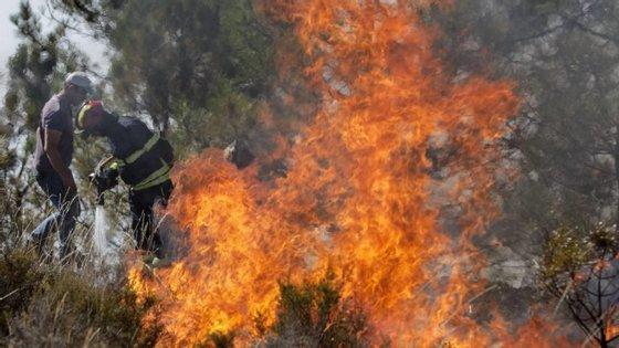 Devido ao tempo quente vários fogos têm deflagrado no território nacional