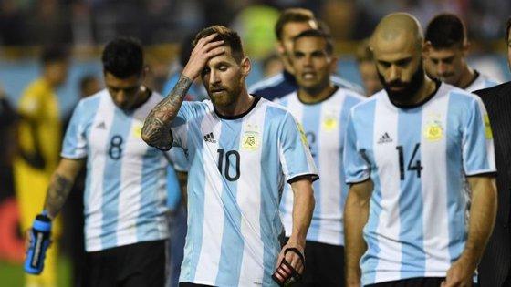 Argentina de Messi está em risco de falhar o Mundial e marcou apenas 16 golos em 17 jogos na qualificação