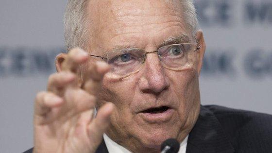 """""""Portugal é uma vez mais a prova de que a nossa política de estabilização do euro foi um sucesso"""", realçou Schäuble"""