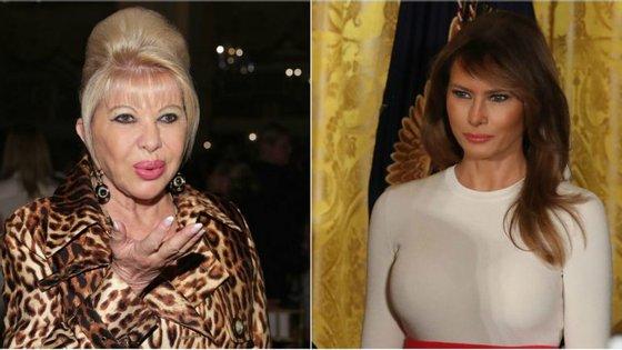Ivana Trump (à esquerda) e Melania Trump (à direita)