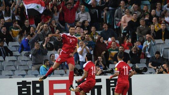 Al Soma (ou Al Somah) voltou a marcar pela Síria mas o golo foi insuficiente para evitar a eliminação frente à Austrália