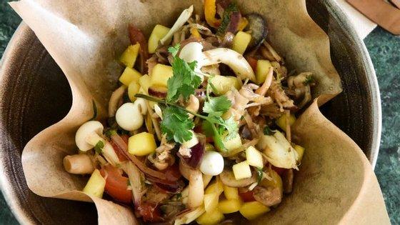 O ceviche de cogumelos é só uma das especialidades do Naked, o novo restaurante do Príncipe Real que serve os alimentos ao natural.