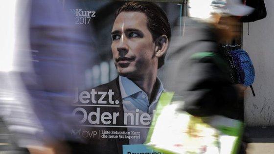 Todas as sondagens apontam para uma vitória do ÖVP (direita), liderado por Sebastian Kurz