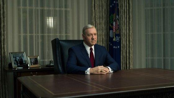 """Frank Underwood é a personagem principal de """"House of Cards"""""""
