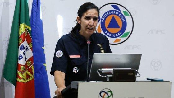 Patrícia Gaspar, porta-voz da Proteção Civil