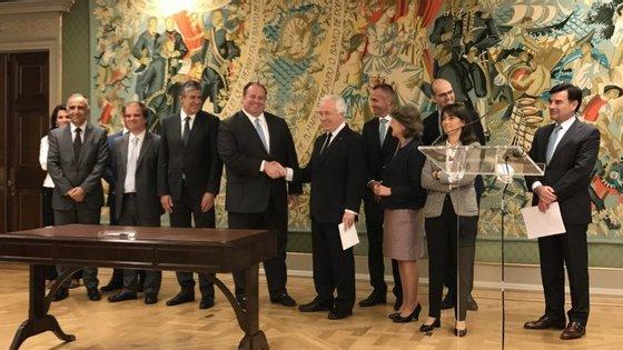 Donald Quintin, diretor do Lone Star, veio a Lisboa para assinar a compra de 75% do Novo Banco.