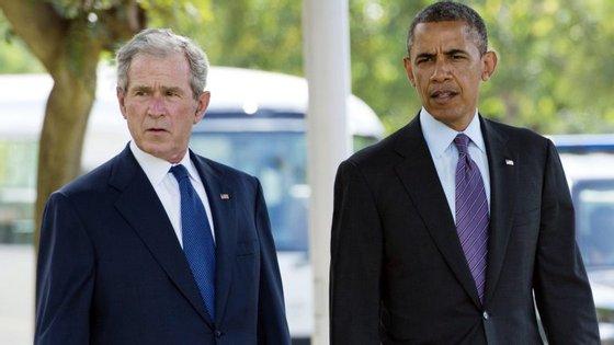 Bush e Obama nunca concordaram em muita coisa, mas desta vez tiveram posições semelhantes