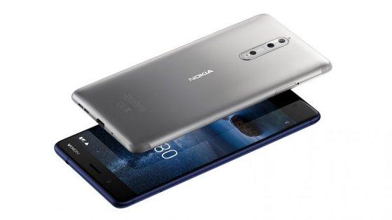 O Nokia 8 está à venda em Portugal por 600 euros. Está disponível em quatro cores: Azul polido, Cobre polido, Azul temperado e Prateado