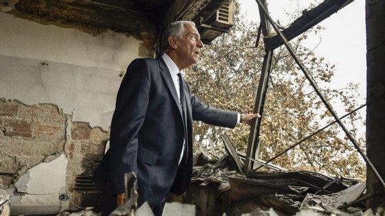 Marcelo Rebelo de Sousa tem visitado todos os concelhos afetados pelos incêndios de domingo
